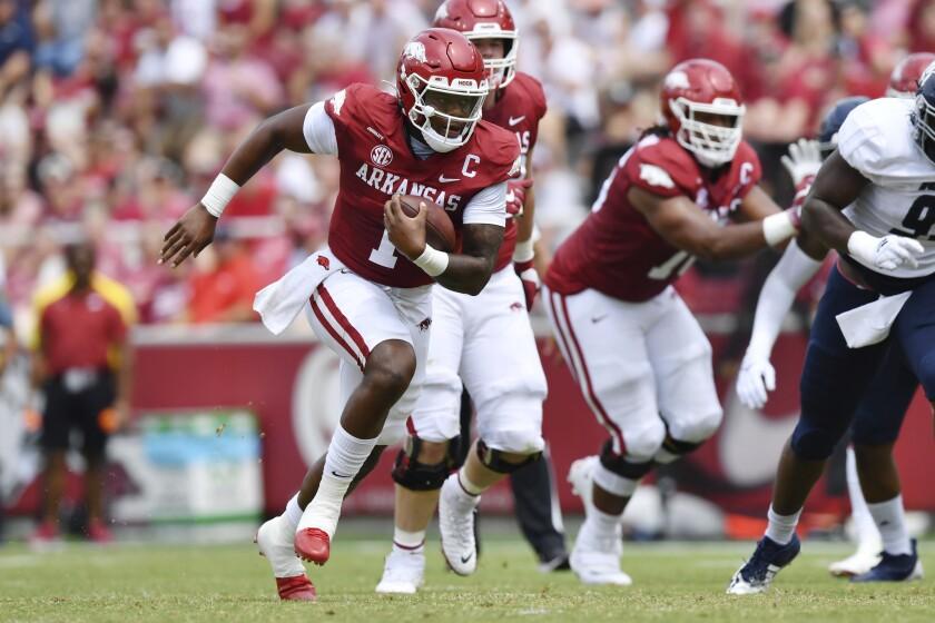 No. 16 Arkansas out to reset rivalry vs. No. 7 Texas A&M - The San Diego  Union-Tribune