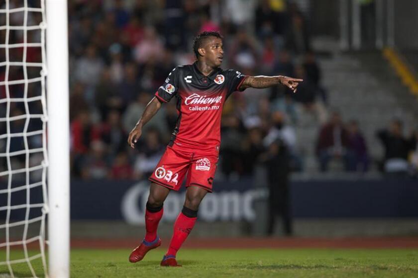 El jugador de Xolos, Miler Bolaños. EFE/Archivo