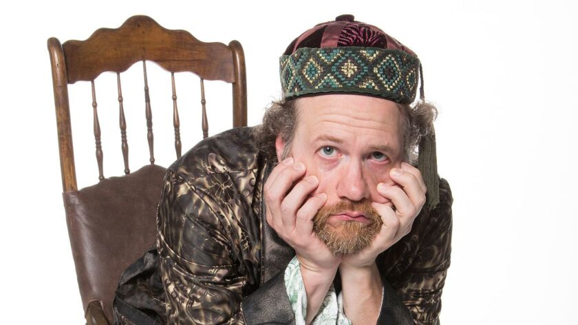 Andy Grotelueschen appears as Argan in the world premiere adaptation of Molière's The Imaginary I