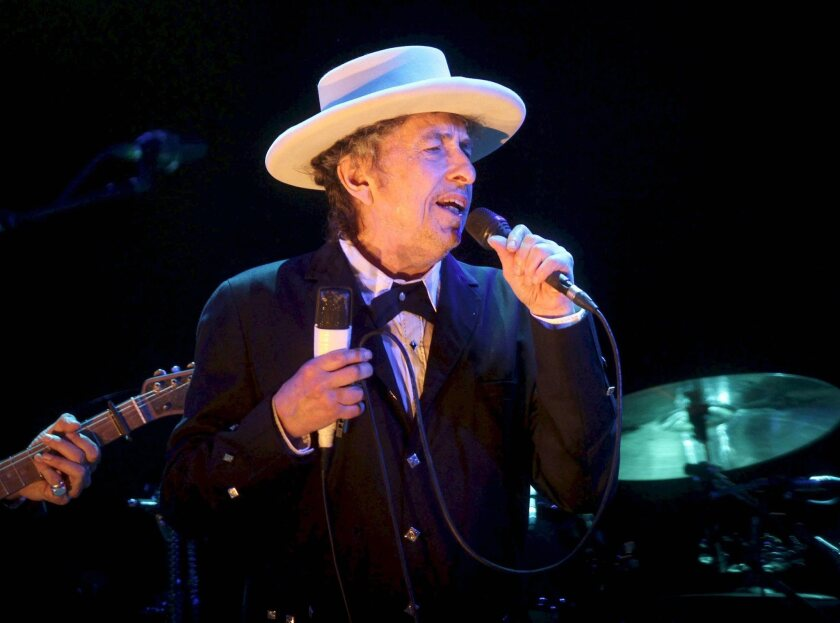 Bob Dylan performing at the Benicassim International Music Festival in Spain in 2012. The songwriter has won the Nobel Prize for literature.