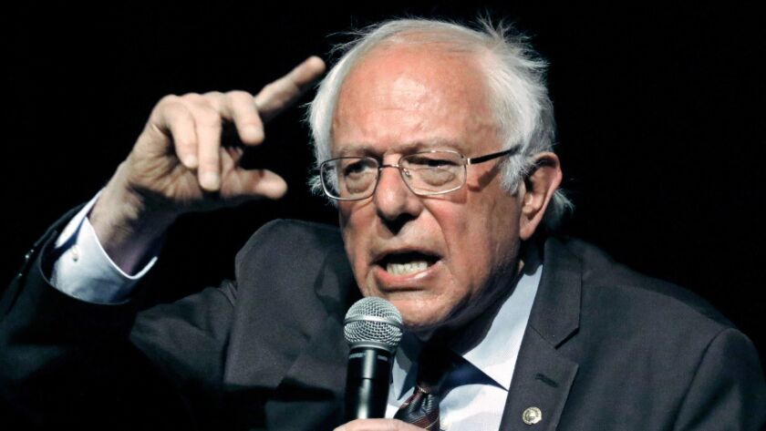 Sen. Bernie Sanders (I-Vt.): His Medicare for All plan got an inadvertent endorsement of sorts from an archconservative think tank.