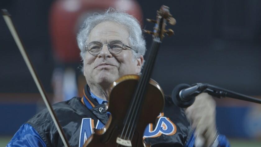 """Itzhak Perlman in the documentary """"Itzhak."""""""