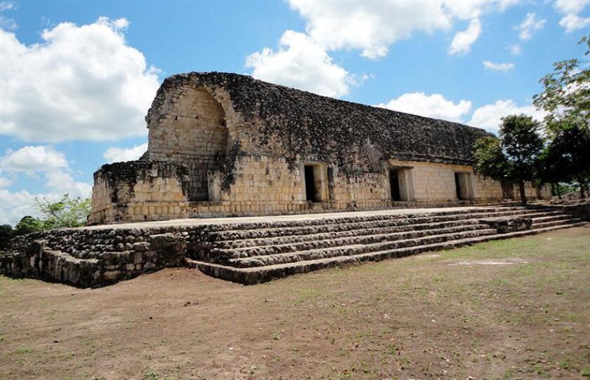Fotografía cedida por la Secretaria del Fomento Turístico de Yucatán, fechada el día 25 de enero de 2018, que muestra la zona arqueológica de Kulubá en Yucatán (México). EFE/Secretaria del Fomento Turístico de Yucatán/SOLO USO EDITORIAL