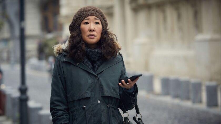 "Sandra Oh as Eve Polastri in ""Killing Eve."""