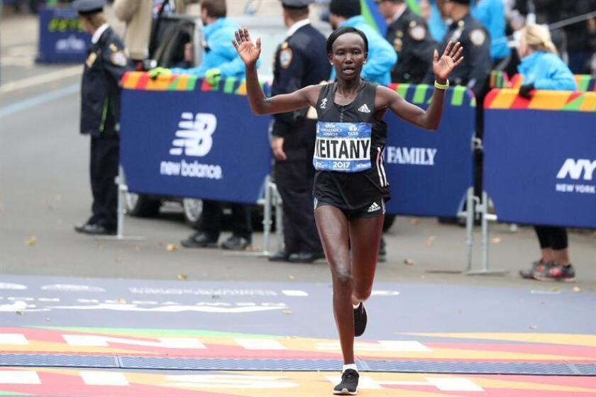 En la imagen, la atleta keniana Mary Keitany. EFE/Archivo