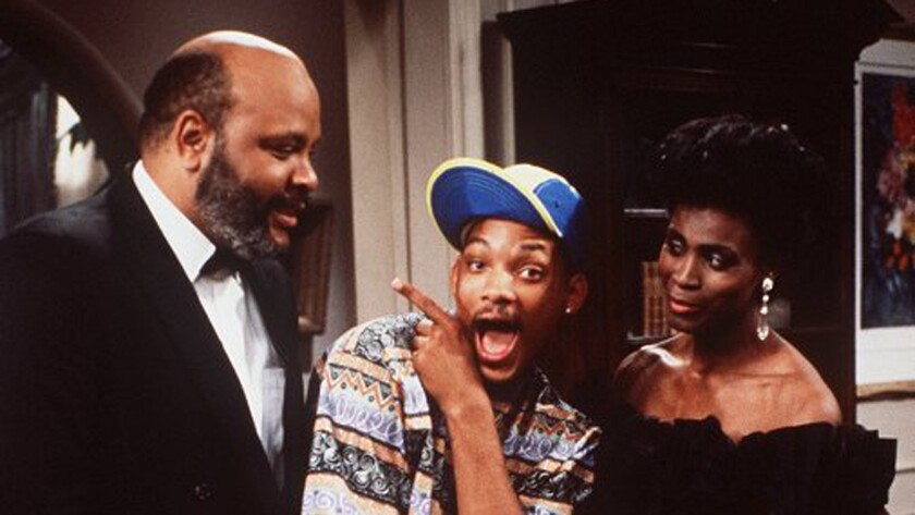 "Janet Hubert, pictured with James Avery, left, and Will Smith in ""The Fresh Prince of Bel Air."" Hubert has criticized Jada Pinkett Smith's Oscars-boycott video."