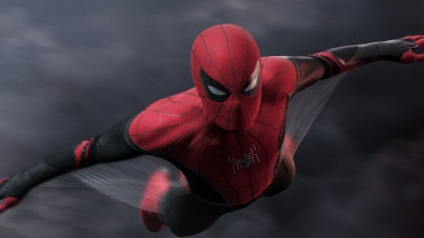 Spider-Man in Columbia Pictures' SPIDER-MAN: ? FAR FROM HOME. Credit: Sony Pictures