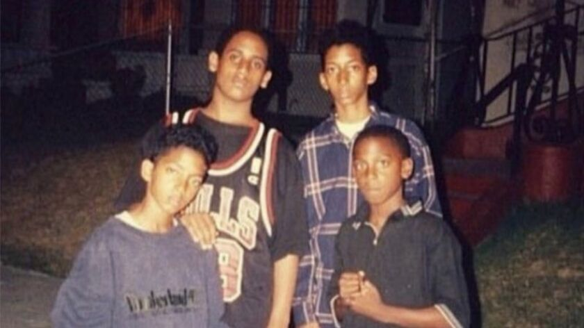 Ermias Asghedom aka Nipsey Hussle bottom left DO NOT USE WITHOUT SPEAKING TO PHOTO DESK