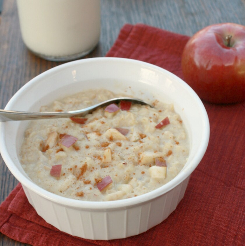 Overnight Apple Cinnamon Oatmeal Breakfast Custard.