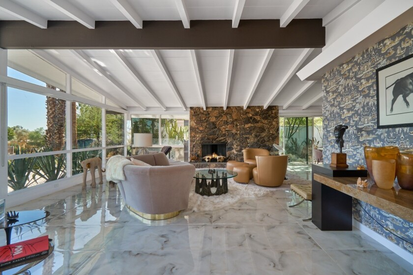 The Midcentury Modern-style home in Rancho Mirage was owned by Oscar-nominated actor Jeff Chandler in the late 1950s.