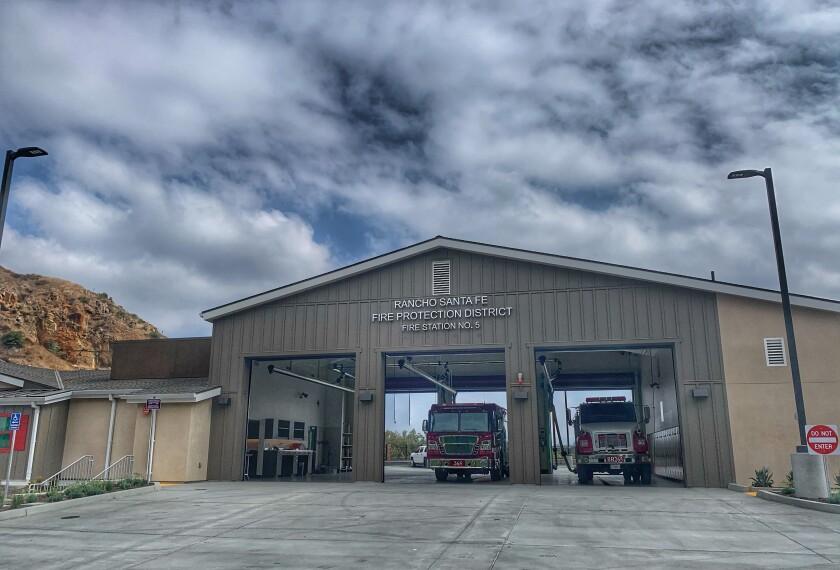 The Rancho Santa Fe Fire Protection District's new Harmony Grove station.