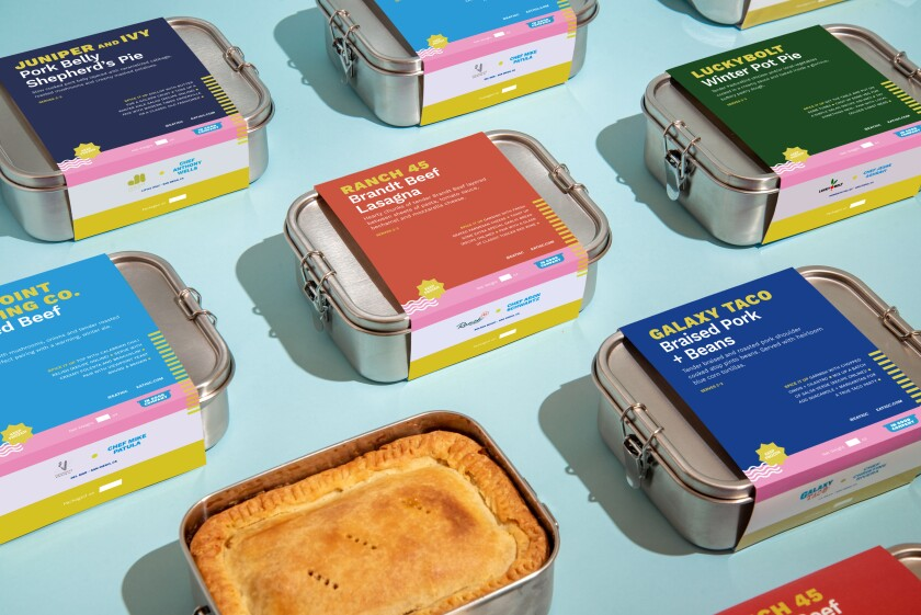In Good Company's frozen family meals from San Diego restaurants.