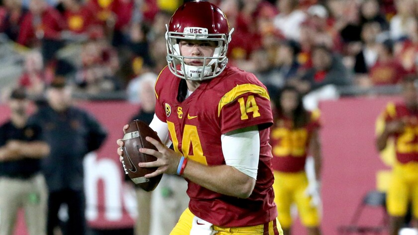 innovative design 210b6 1eb18 Sam Darnold and Jake Browning meet at last; with a USC win ...