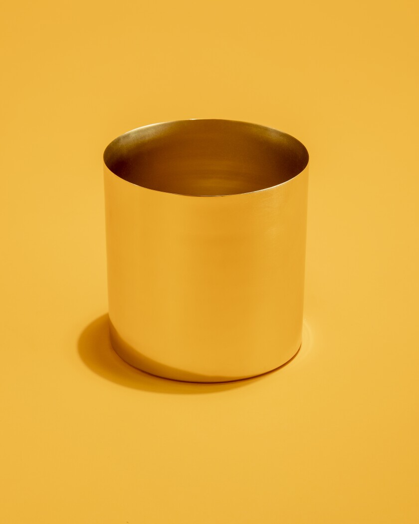 """Naked"" Louise brass cachepot"