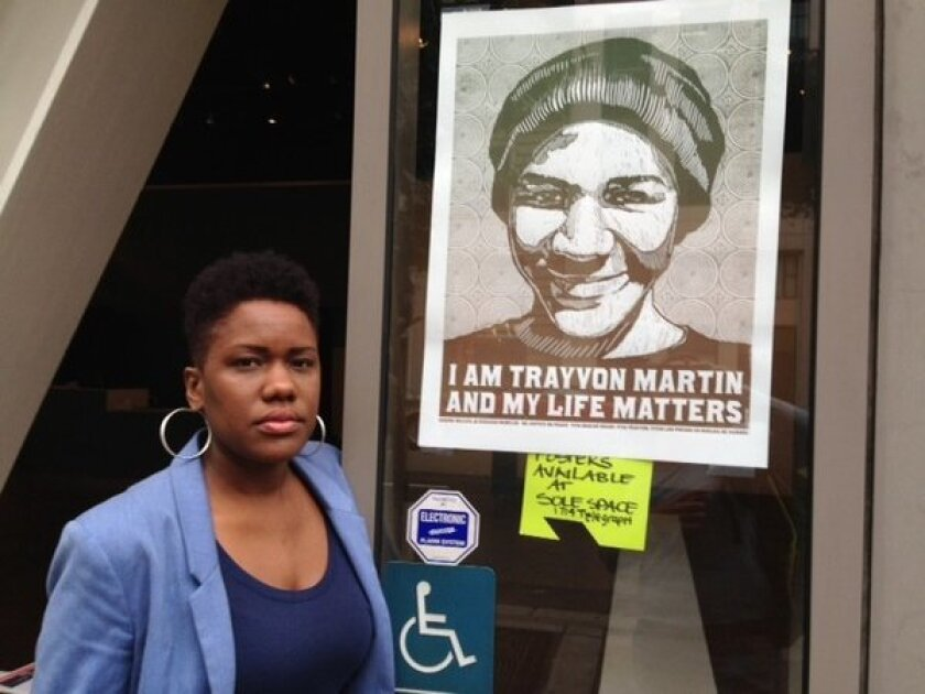 Anyka Barber decided to open her Oakland art gallery to locals who wanted to respond to Martin's death and Zimmerman's verdict in a peaceful space.