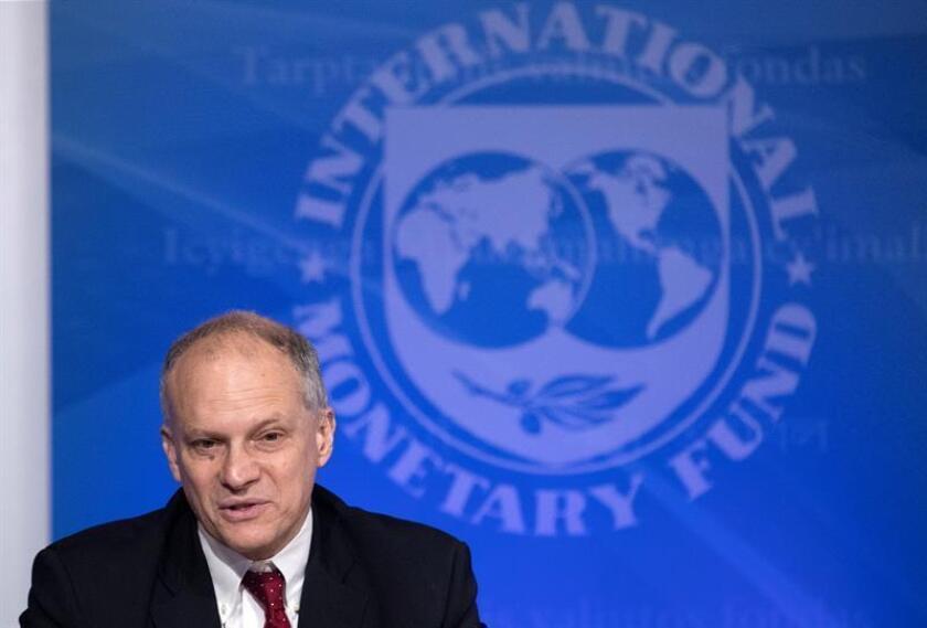 Alejandro Werner, director del Fondo Monetario Internacional (FMI) para América Latina, ofrece una rueda de prensa en Washington (Estados Unidos). EFE/Archivo