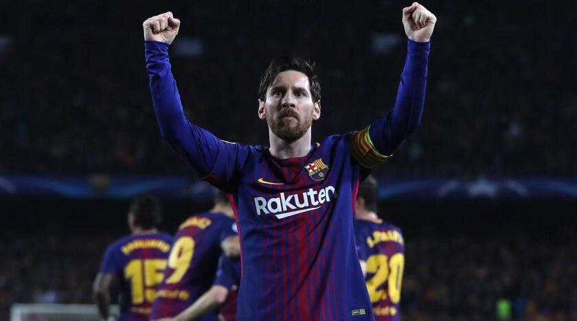 Lionel Messi, astro argentino del Barcelona.