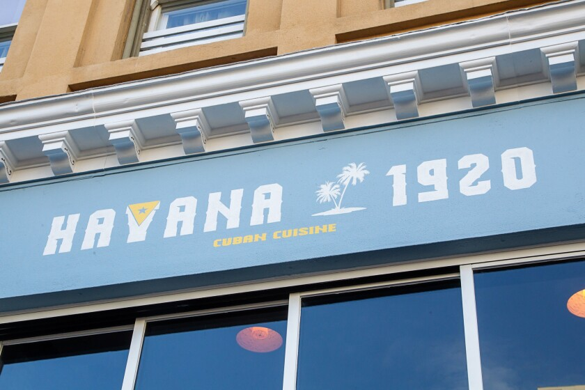 The Havana 1920 restaurant in the Gaslamp Quarter.