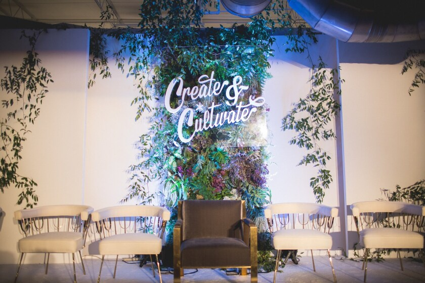 A Create & Cultivate conference stage.