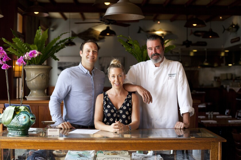 General manager Nicholas Lorenz, co-manager Annemarie Brown and chef Paul Arias