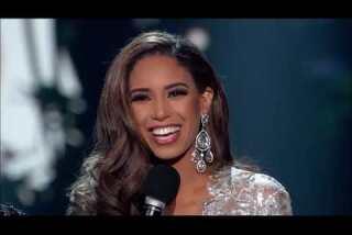 Miss Nevada stumbles but Miss Oklahoma wins Miss USA