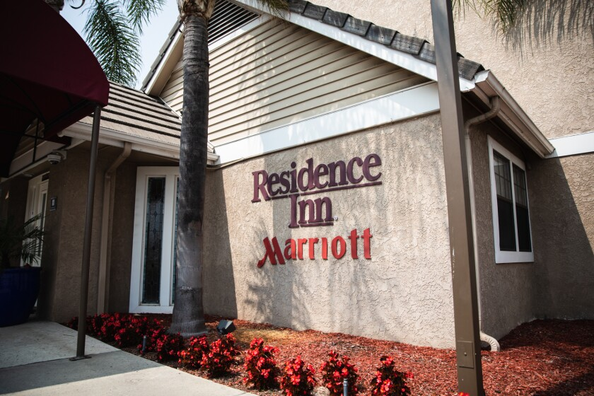 The Residence Inn by Marriott on Kearny Mesa road.