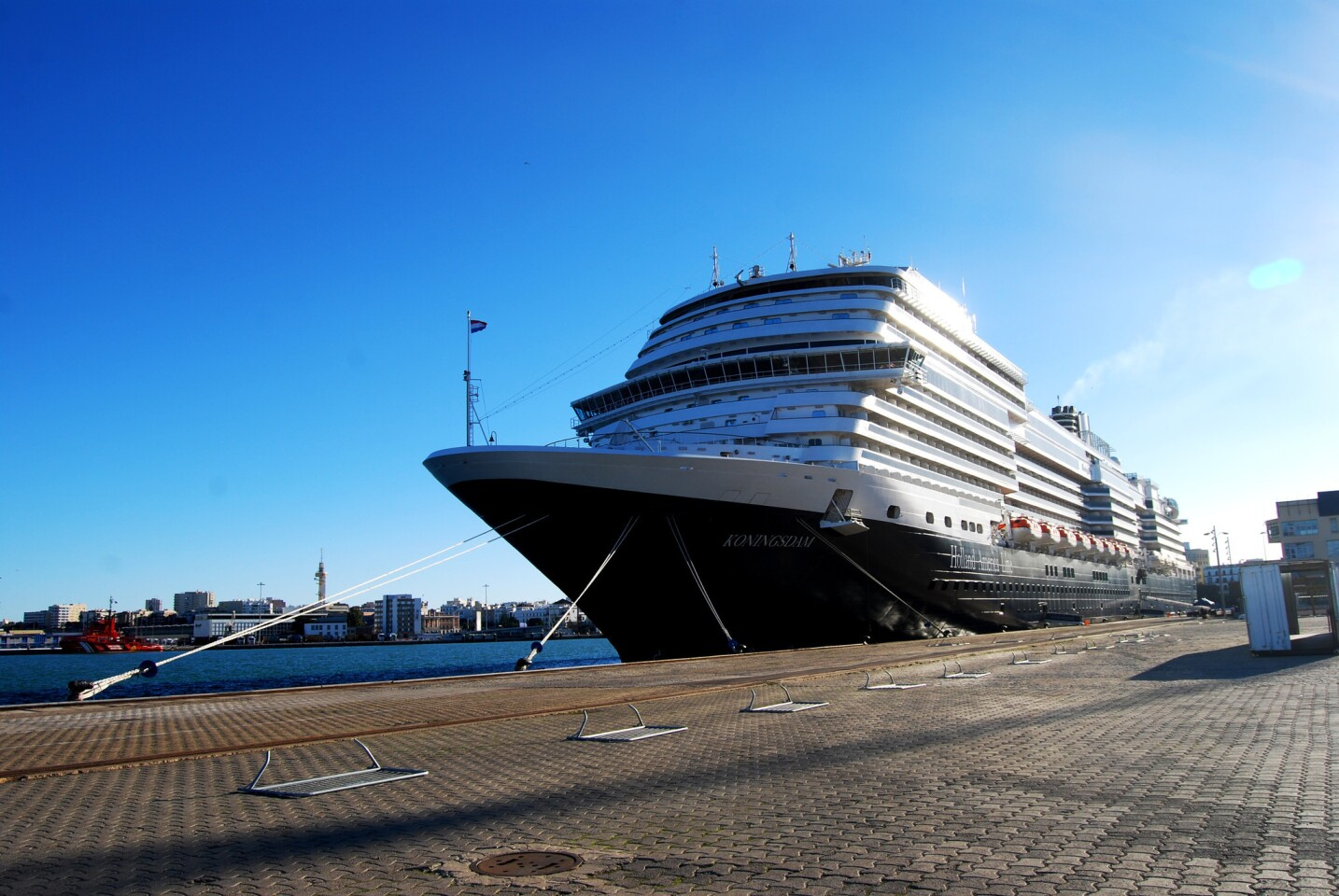 A new ship takes time to get used to: The Koningsdam
