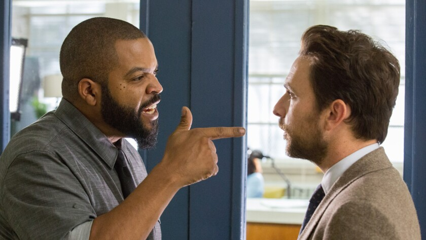 """Ice Cube, left, and Charlie Day in the movie """"Fist Fight."""""""