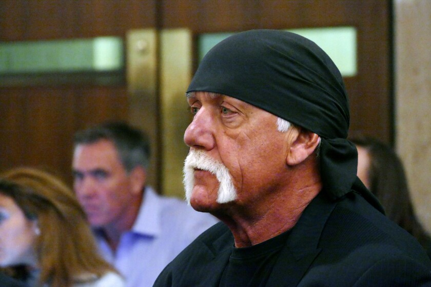 But who's really pulling the strings? Hulk Hogan (real name: Terry Bollea) in a Florida court, where a judge upheld his $140-million verdict against Gawker.