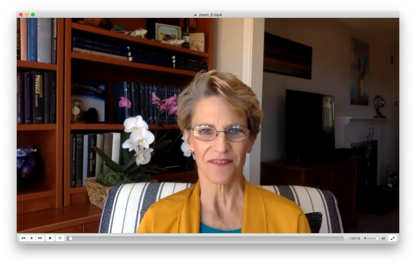Kate Lister, president of the San Diego-based Global Workplace Analytics, speaks to the Union-Tribune via Zoom.