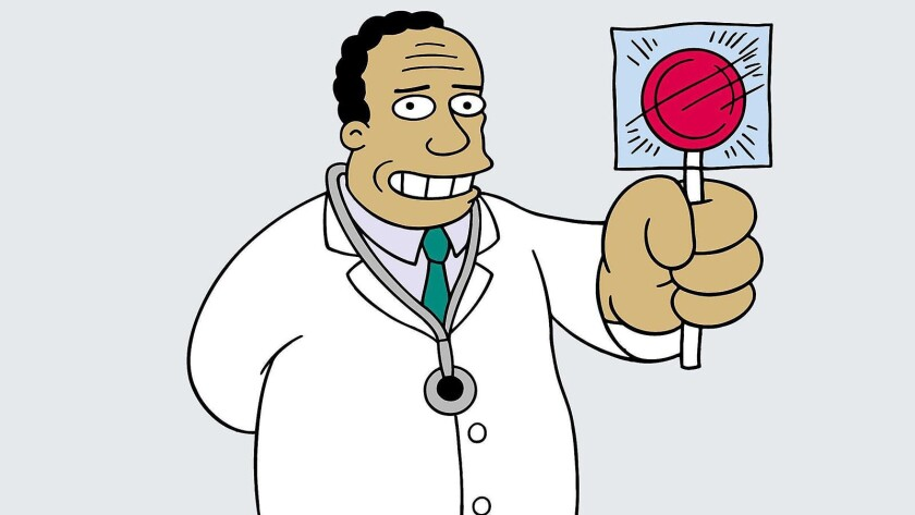 Dr. Hibbert from 'The Simpsons'