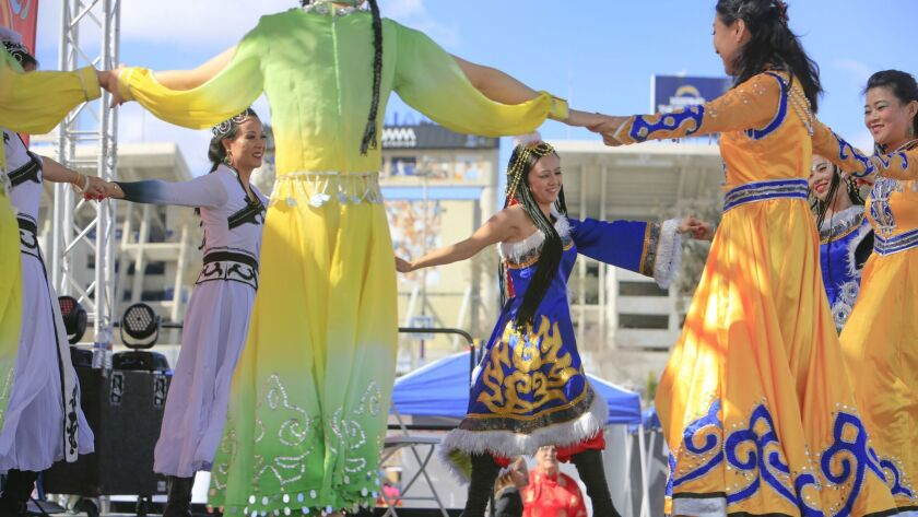SAN DIEGO, CA: FEBRUARY 4, 2017 | Members of Bird of Paradise Chinese Costume Group wearing Chines