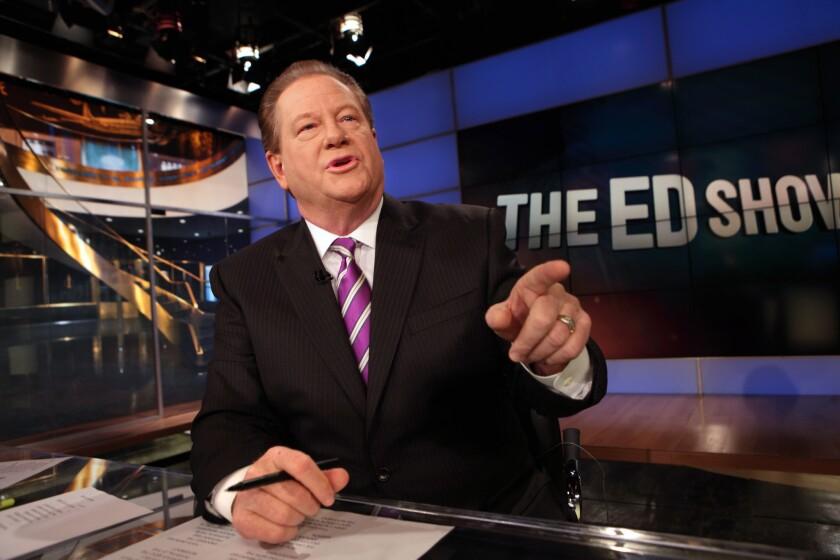Former ––MSNBC host Ed Schultz in 2011.