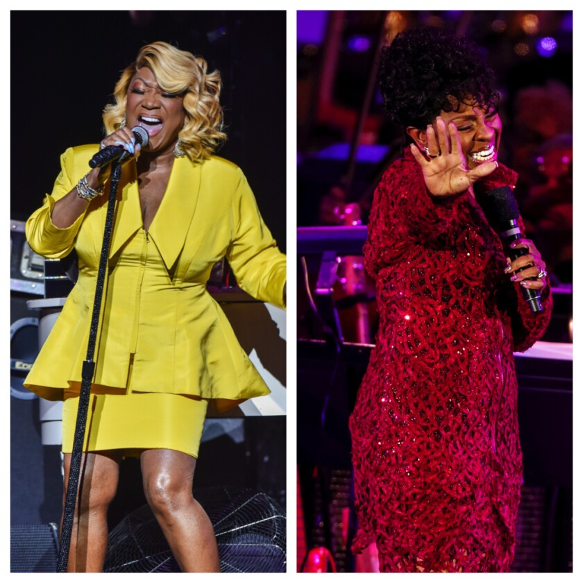 A diptych of Singer Patti LaBelle and Gladys Knight