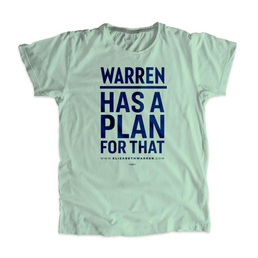 "Elizabeth Warren's ""Warren Has a Plan for That"" campaign T-shirt"