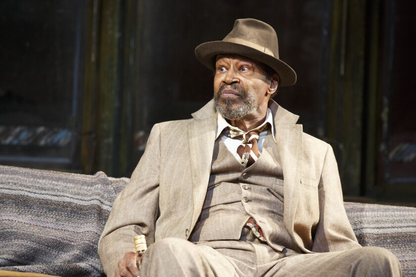 "Anthony Chisholm in the Manhattan Theatre Club production of August Wilson's ""Jitney."""