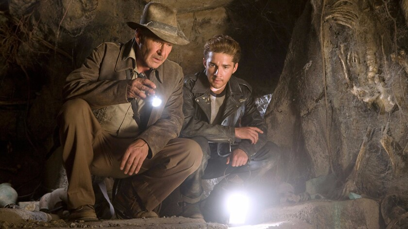 """Harrison Ford, left, and Shia LaBeouf in """"Indiana Jones and the Kingdom of the Crystal Skull."""""""