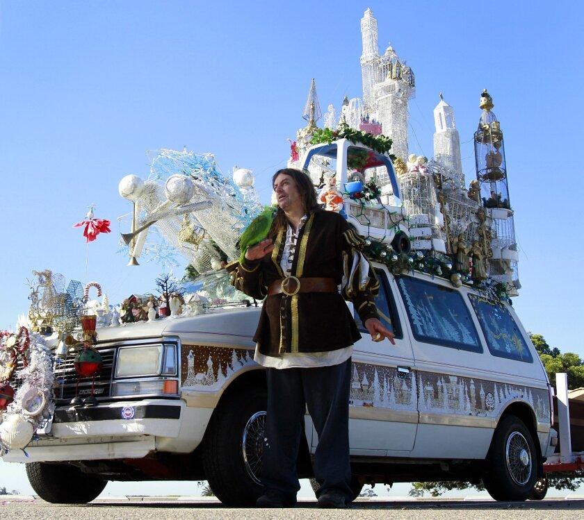 Larry Bogaert said his Christmas-themed 1978 Chrysler minivan makes people smile.