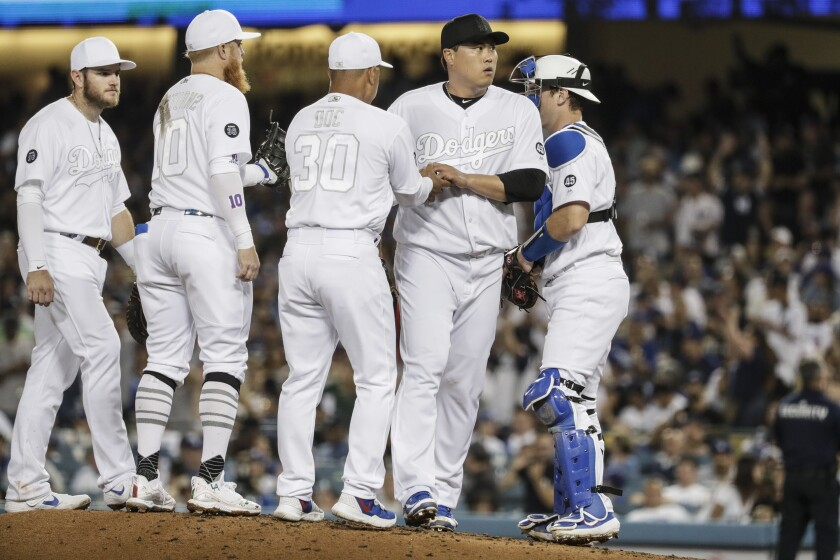 sports shoes febfa d13a0 Dodgers and Hyun-Jin Ryu are routed by Yankees in series ...