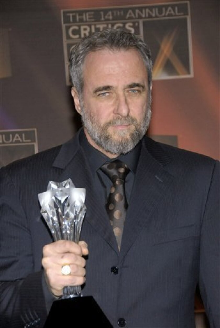 """Ari Folman poses backstage with the best foreign language film award for """"Waltz With Bashir"""" at the 14th Annual Critics' Choice Awards on Thursday Jan. 8, 2009 in Santa Monica, Calif. (AP Photo/Dan Steinberg)"""