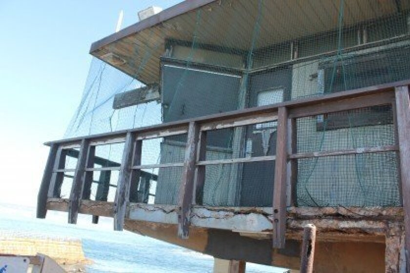 Demolition of the condemned lifeguard tower at Children's Pool is scheduled to begin this month. File