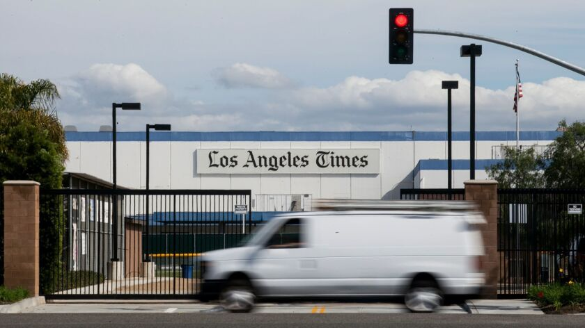COSTA MESA, February 18, 2016 - The former L.A. Times building in Costa Mesa is now planned for rede