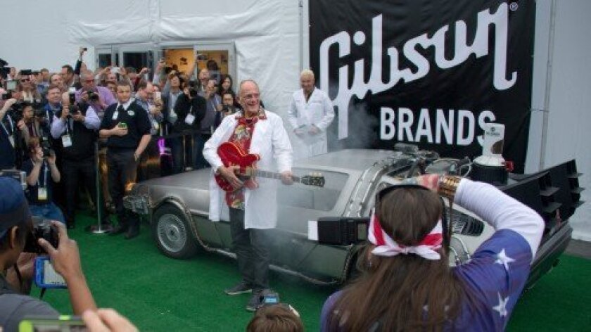 """Christopher Lloyd as """"Doc"""" Brown – Back to the Future DeLorean"""