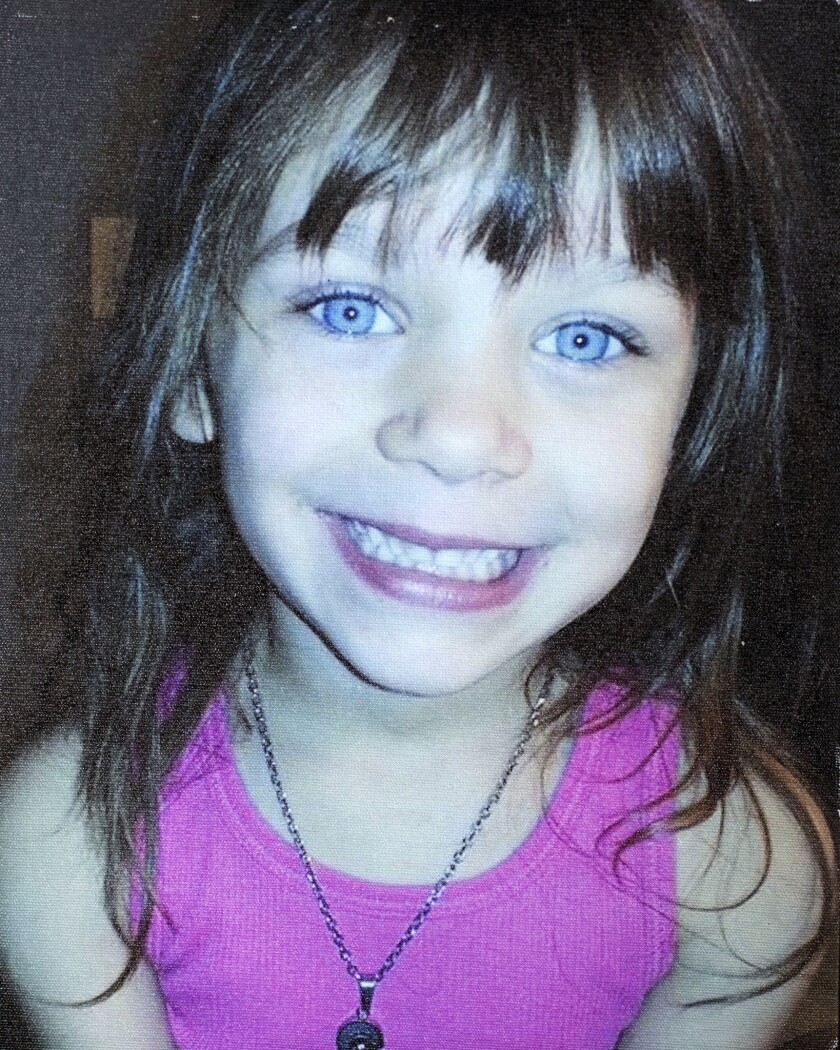 A photograph of Scarlet Anne Taylor, 5, supplied by her mother, Rebecca Hendricks, copied on Saturda