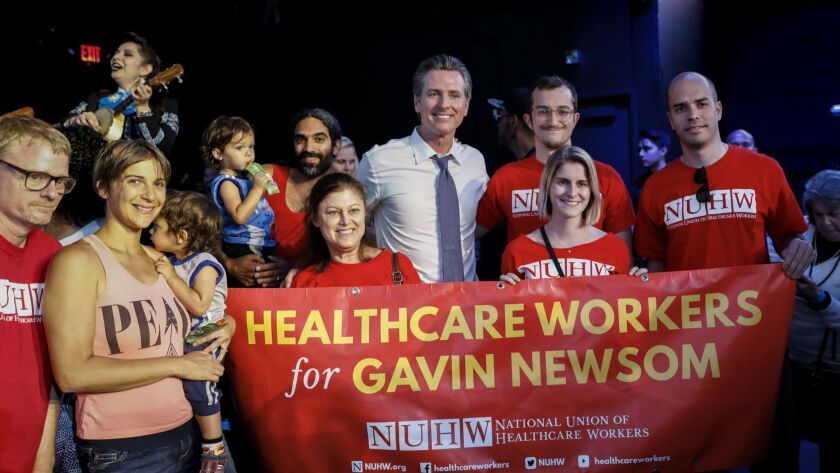 HOLLYWOOD,CA --SUNDAY, JUNE 03, 2018--California democratic candidate for governor, Lt. Gov Gavin Ne