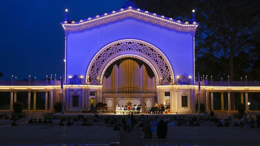 Hundreds attended an Easter sunrise service hosted by St. Stephen's Cathedral Church of God at the Spreckels Organ Pavilion in Balboa Park.