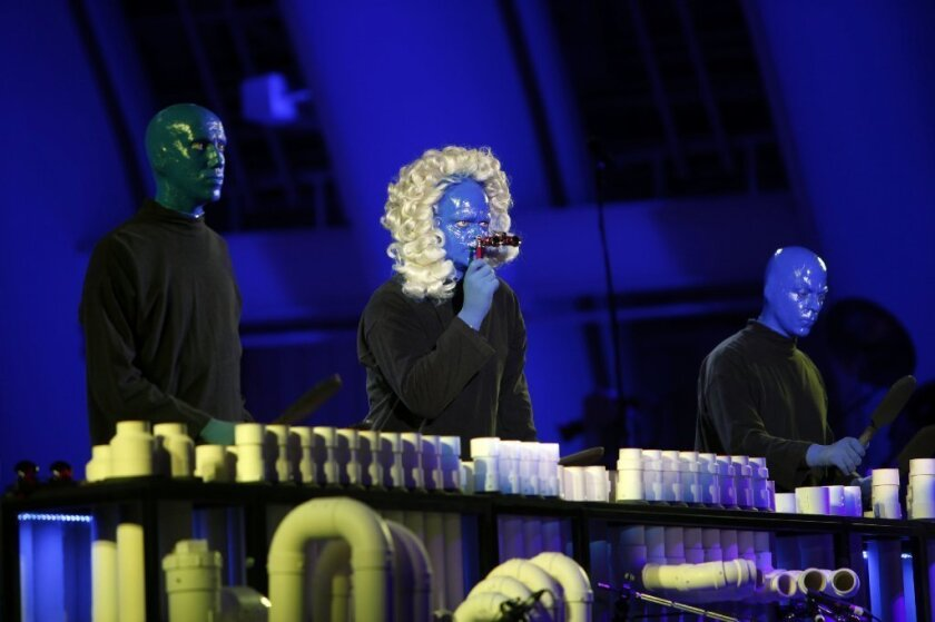 Review: Blue Man Group makes merry at the Hollywood Bowl