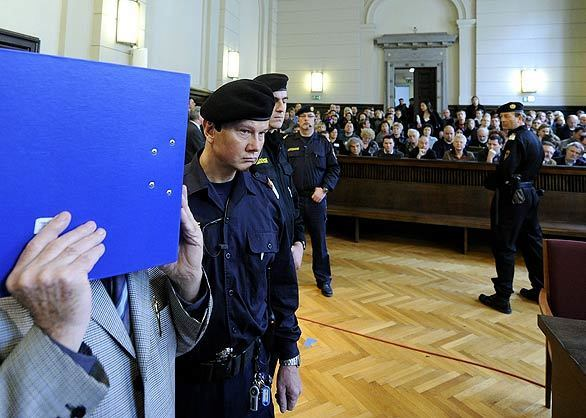Austria incest trial - courtroom