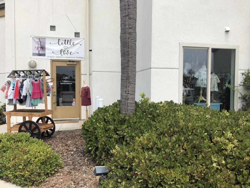 Little Love Designer Children's Consignment Boutique is at 1110 Torrey Pines Road in La Jolla.