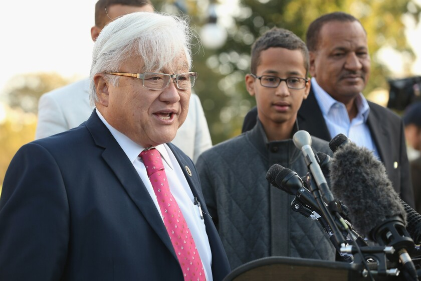 Rep. Mike Honda and Ahmed Mohamed